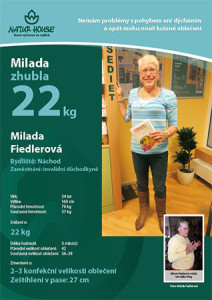 Paní milada zhubla 22 kilo